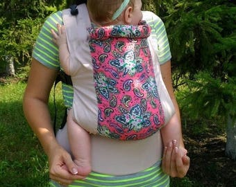 Silk paisley roses Buckle baby Carrier BabyLove Soft Structured Carrier ergo for hot summer