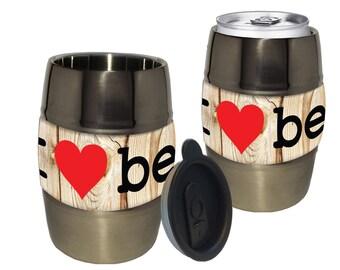 I Love Beer Barrel Mug