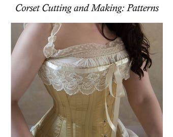 9 Unique Edwardian Corset Patterns 1900-1910 digital E Pattern printable PDF Pack One from Corset Cutting and Making: