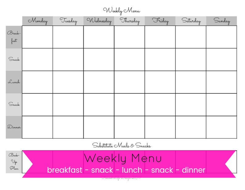 graphic about Printable Weekly Meal Planner identify Weekly Dinner Planner, Weekly Evening meal Method Printable, Weekly Supper Software, Evening meal System, Evening meal Planner, Weekly Menu Printable, Weekly Menu, Grocery Record