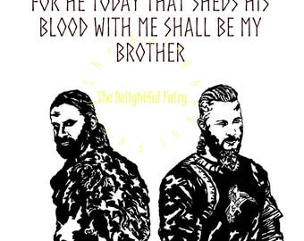 Ragnar and Rollo SVG,  digital cutting file, EPS, Jpeg,Png, Vikings, Brothers, instant download, Ragnar Lothbrok, Rollo, SVG, decal, cameo