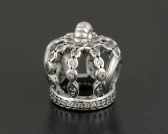 Authentic Pandora Fairytale Crown CZ Bead 792058CZ