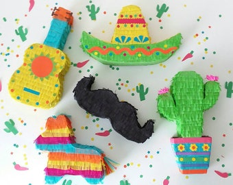 Mini Piñata Party Favor|  Cinco de Mayo| Mexican Fiesta  | Party Decoration | Set of 5