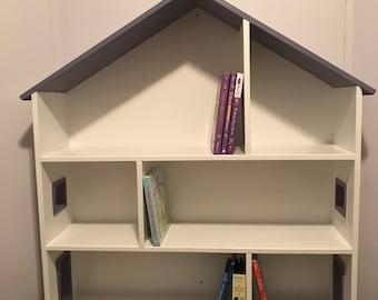 Custom Wooden Dollhouse Bookshelf