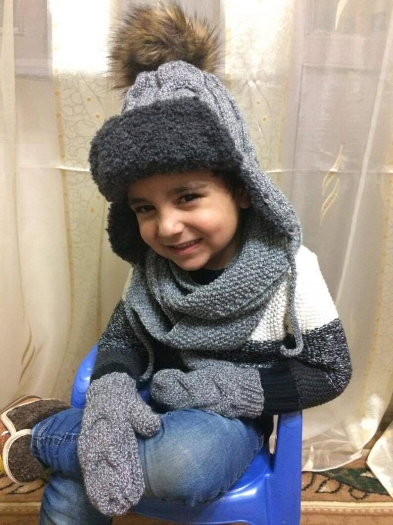 Handmade knitting hat for a boy