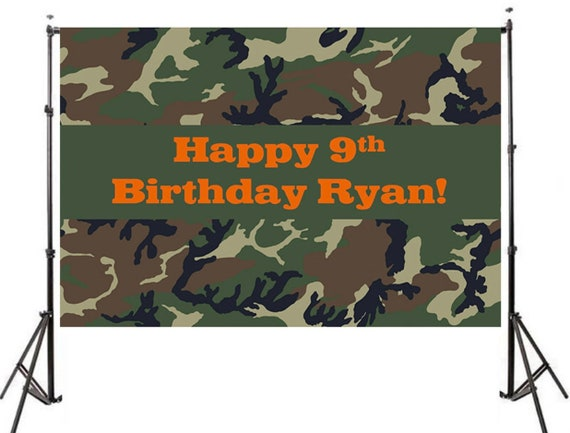 Army Camo Backdrop Printed and Shipped Military Birthday Backdrop High Quality