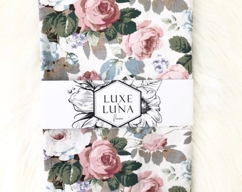 Fitted Cot / Crib Sheet - Bella floral print