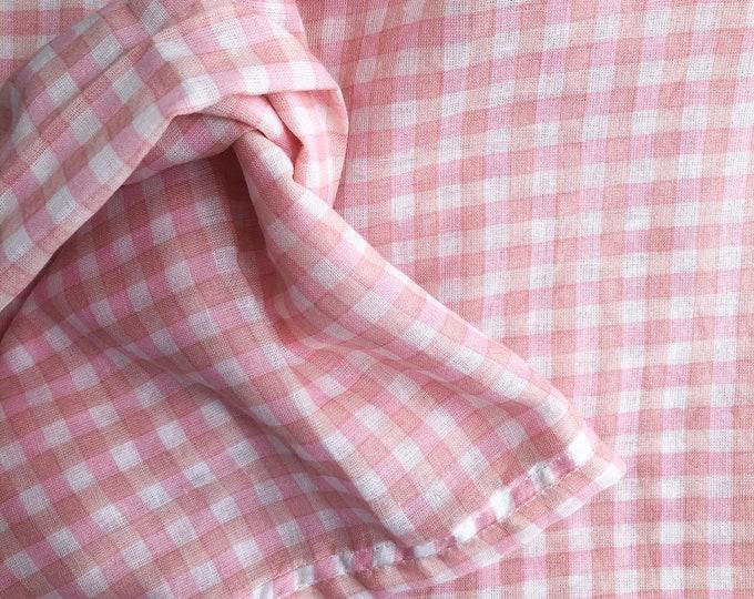 Muslin Wrap - Pink Gingham