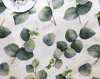 Fitted Bassinet Sheet / Change Mat Cover-    Eucalyptus 2