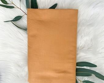 Bassinet sheet / change mat cover / - Mustard