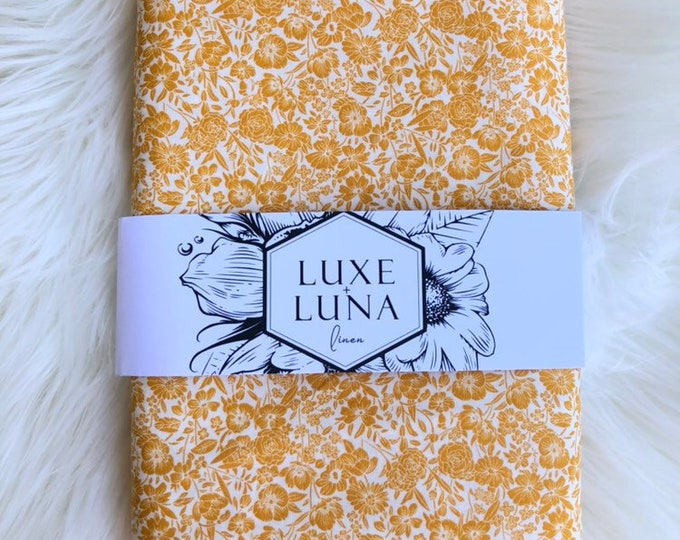 Fitted Bassinet Sheet / Change Mat Cover-  Goldie Floral Print