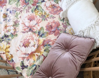 Fitted Cot Sheet - Audrey Floral Print