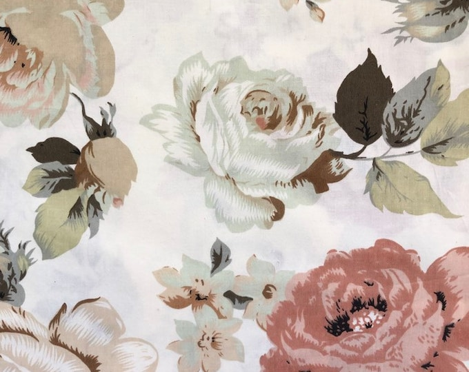 """Fitted Cot / Crib / Bassinet  Sheet Floral - """"Everly"""""""
