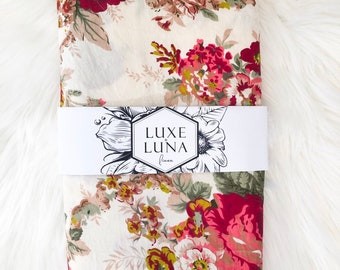 Fitted Cot / Crib Sheet - Vera floral print