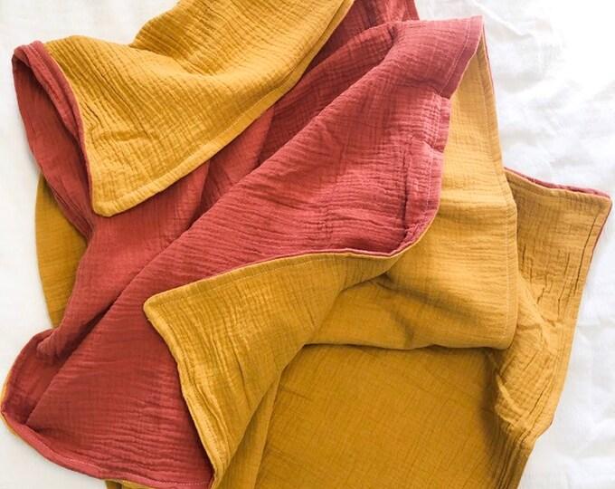 Baby Blanket Double Gauze - two tone