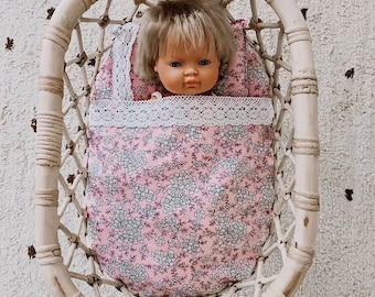Dolls bedding - to fit Tiny Harlow Dolls Bassinets and others