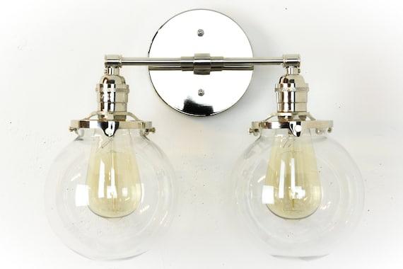 Badezimmer Eitelkeitslichter Beleuchtung Chrom Leuchte Moderne Eitelkeit Lampe Nickel Wandleuchte Badezimmer Dekor Globus Wandlampen