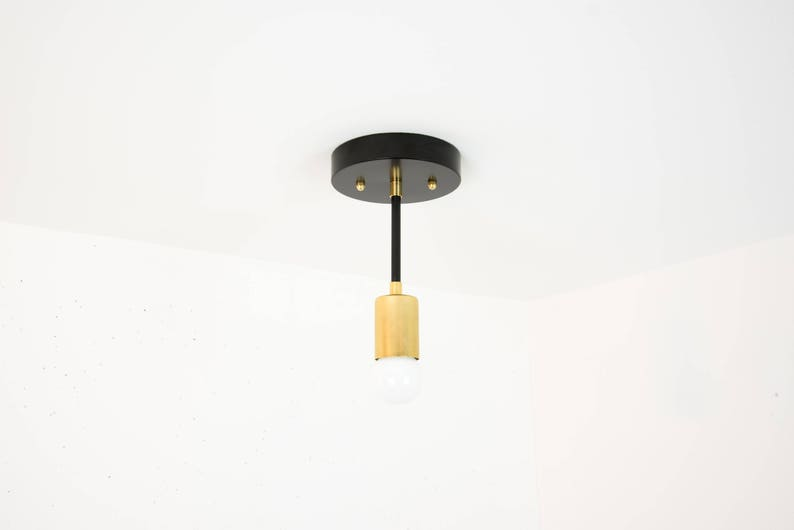 Luci moderno soffitto luce black light fixture ottone etsy