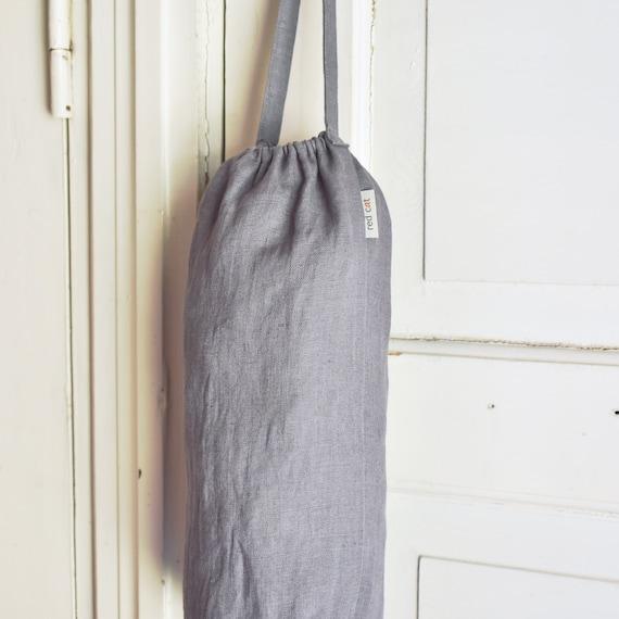 Cat on the Beach Design Homemade Fabric Plastic Grocery Bag Holder