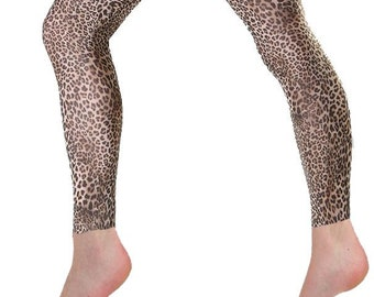 18d34edfae2d4 Printed footless Tights Petite Leopard natural for women.