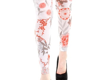 1d2c6e7fb Printed footless Tights Japanese flower