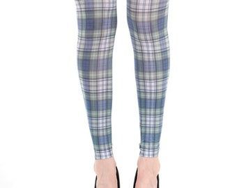 a1facd5f9 Footless Tights Cunningham Plaid Pattern Scottish Tartan Malka-Chic