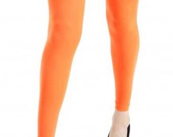 93300620ffd11 Footless Tights orange plus size 40 deniers Malka Chic