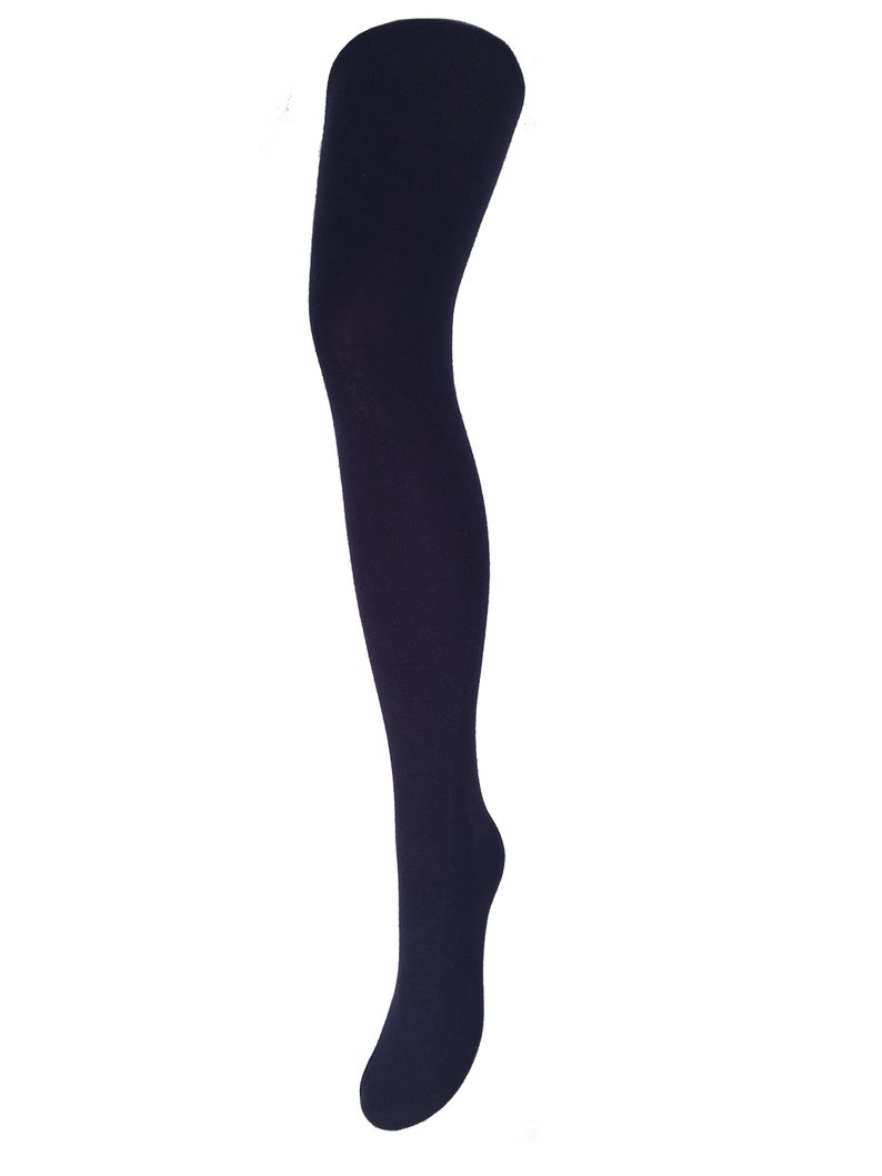 4a6ccf6716a0a Super soft winter Tights navy blue Malka Chic | Etsy