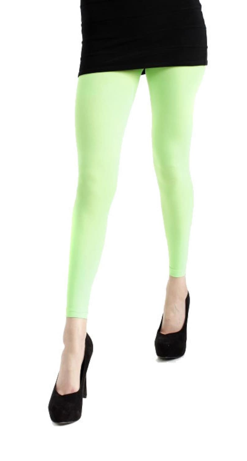 d7cc163daddbc Plus size Tights footless Green 40 deniers Malka Chic | Etsy