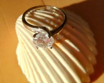 Solitary Zircon Ring
