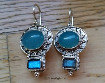 Chalcedony Labradoride Earrings