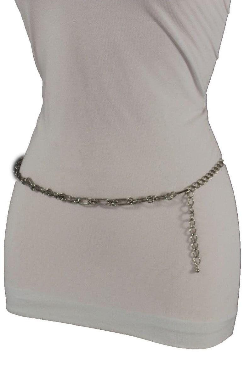 Women Fashion Belt Hip High Waist Antique Dark Gold Metal Chain Belly Dance S M
