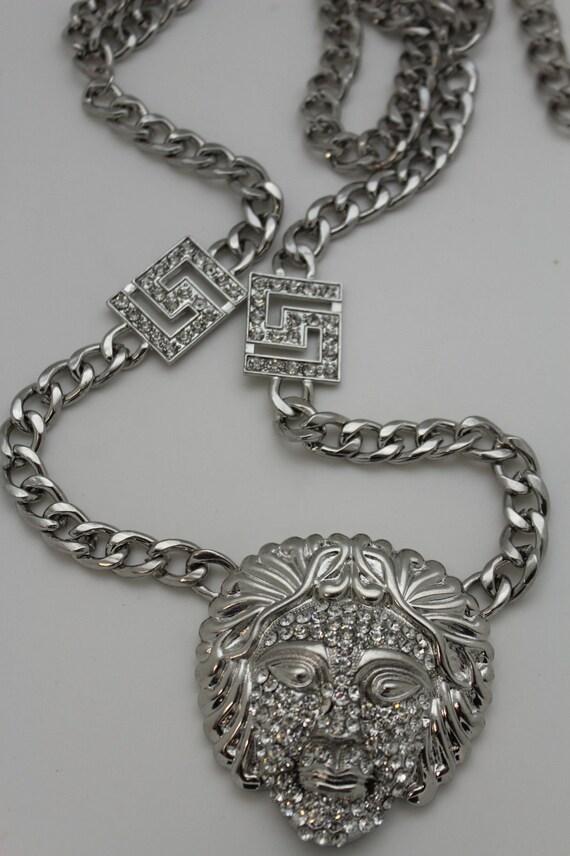 Nouvelles femmes argent chaîne épaisse en métal épais lien   Etsy 9c5adb1bcd1
