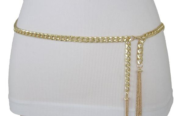 Nouveau femmes chaîne en métal doré épais liens étroit mode   Etsy aaa2223f806