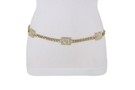 Women High Waist Hip Fancy Cute Fashion Belt Gold Mesh Metal Band Stylish M L XL