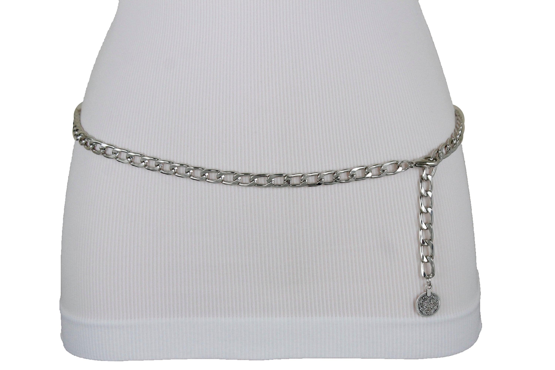 45e45c8f438 Nouvelles femmes argent chaine en métal liens mode spécial