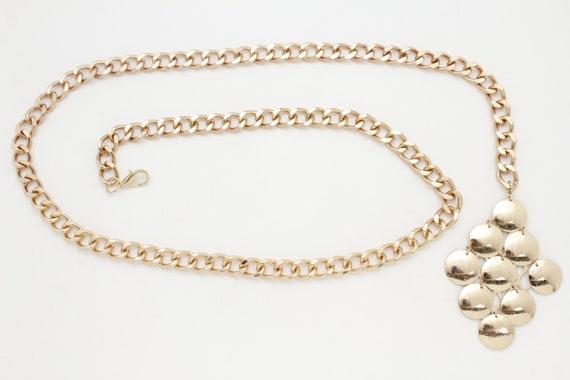 Hot Women Fashion Gold Metal Chain Retro Bling Lion Buckle Belt Hip Waist M L XL
