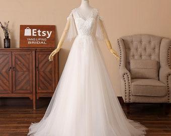 12800a73551 Romantic Lace Bridesmaid Dress