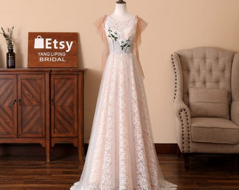 36dac8c02ee Lace Wedding Dress Champagne