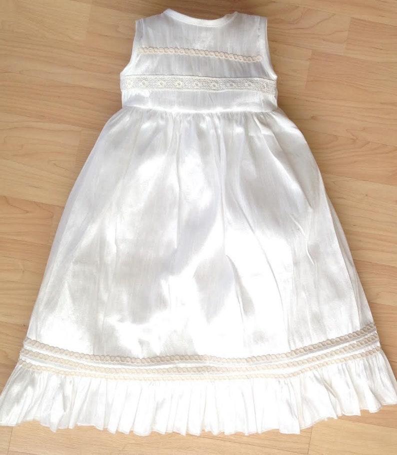 Ivory or White 3 Pice Gown dresse Baby Girl Christening Baptism dress | Girls Christening Gown HandMade