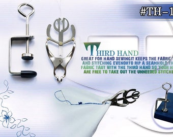 Third Hand - Sewing Clamp,Clamp Attaches To Table&Holds Fabric Taut For Even Stitchhing