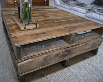 Reclaimed Industrial Pallet Coffee Table