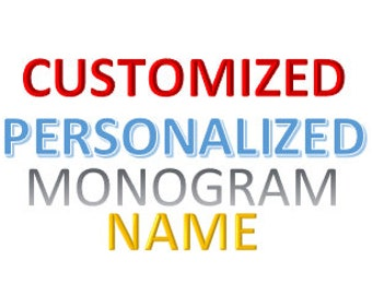 Personalized//Names//Monograms//Customized