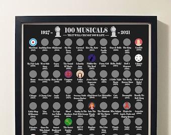Musical Scratch-Off Poster