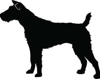 Jack Russell Terrier Decal - One Ear Up, One Ear down - Glossy or Matte Vinyl Decal