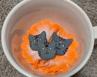 Cat Pusheen Clay Charm Pendant Necklace