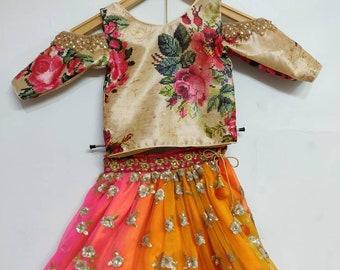 d0105e062c4d Kids lehenga choli ethnic dress for girls Indian designer multicolour  custom made lengha chania choli dupatta party wear dresses
