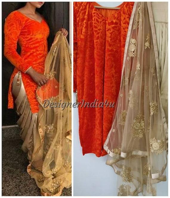 f01b3bbc89 Patiala salwar and kameez Indian Designer party wear shalwar   Etsy