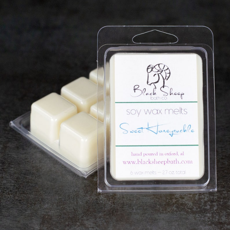 Natural Wax Melts  Sweet Honeysuckle  Handpoured Soy Wax image 0