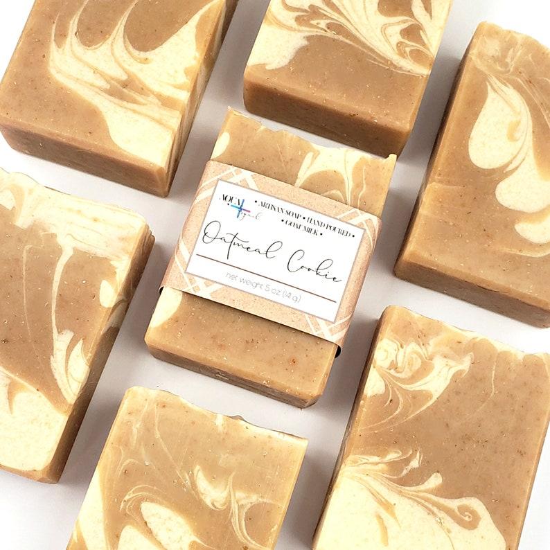 Goat Milk & Oatmeal Soap  Homemade Artisan Soap  Lye Soap  image 0